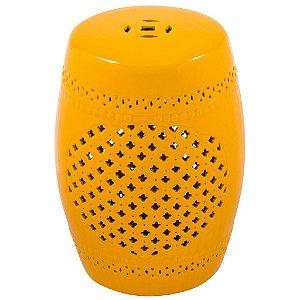 Puff Ceramic Ubaldi Amarelo