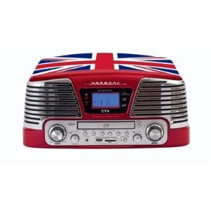 Vitrola Toca Discos Ctx Harmony Bandeira Inglesa Sistema Hi-FI - LP / CD / FM / USB / SD / Gravação