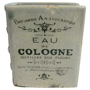 Vaso Cerâmica Book EUA Cologne Cinza (25580)