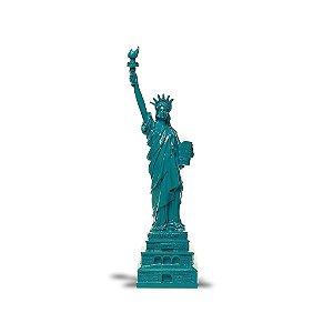 Estatua da Liberdade Ceramic Azul Trevisan