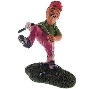 Caricatura Jogador Golf Nervoso