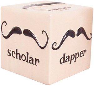 Puff Mustache Ceramica Grande Design Mustache - AZnDesign