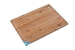 Tábua Com Afiador de Faca Bamboo Azul