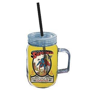 Copo Jarra DC Comics Superman Fundo Amarelo 550ml (26878)