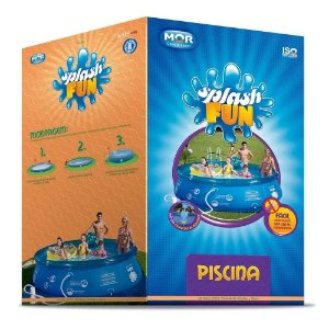 Piscina Redonda 6.700l Inflavel Splash Fun Mor 3,60x0,76