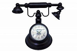 Relógio Decorativo de Mesa Telefone Antigo (RE601)