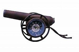 Relógio Decorativo de Mesa Canhão em Metal (RE656)