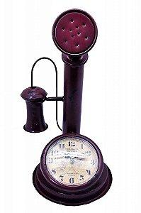 Relógio Decorativo de Mesa Telefone Antigo (RE483)