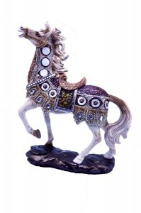 Estatueta de Resina Cavalo na Base (ES861A)