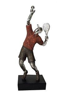 Estatueta Decorativa de Resina Jogador de Tênis (ES583V)