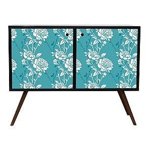 Armário Horizontal com 2 Portas Estampa Floral  (0118-0673)