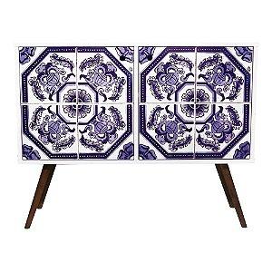 Armário Horizontal com 2 Portas Estampa Azulejo Português  (0118-0747)
