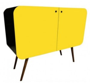 Armário Horizontal Circle 2 Portas Amarelo (0384-1013)