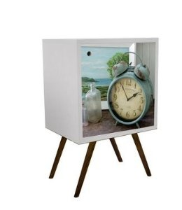 Armário com 1 Porta Estampa Relógio  (0119-0076)