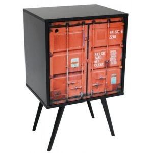 Armário com 1 Porta Estampa Contêiner  (0119-0713)