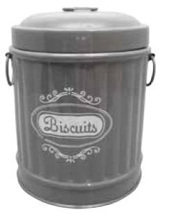 Pote Decorativo de Metal Cinza - Garbage Bin Shape