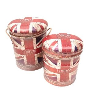Kit 2 Puff UK - Bandeira Inglesa