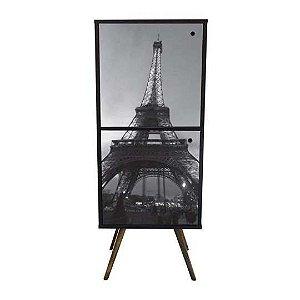 Armário Vertical com 2 Portas Estampa Torre Eiffel (0219-0680)
