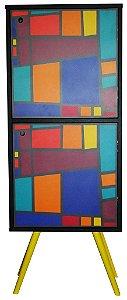 Armário Vertical com 2 Portas Estampa Vitrais  (0219-0762)