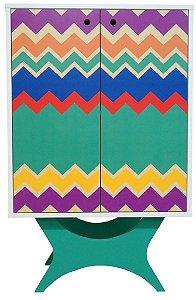 Armário Multiuso com 2 Portas Estampa Colorida (0349-0800)