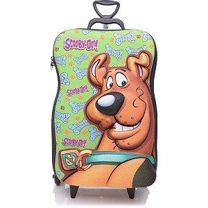 Mochila Escolar de Rodinha 3D Scooby Doo + Lancheira