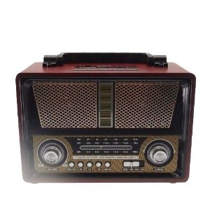 Rádio Vintage Am/Fm Usb Vermelho com Preto (Vin-10)