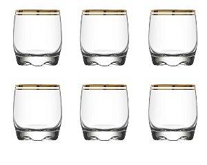 Conjunto de Copos para Whisky Adora Atlânctica 6 Peças 290ml
