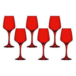 Jogo de Taças Lal Red para Vinho 295ml 6 Peças