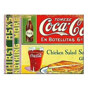 Tábua De Corte Em Vidro Coca Cola En Botellitas 20x30cm (26799)