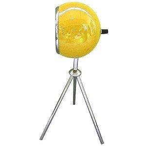 Luminária de Mesa com Tripe Bebop Amarela Brilhante