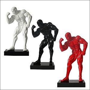 Escultura Resina Fisiculturista Bíceps