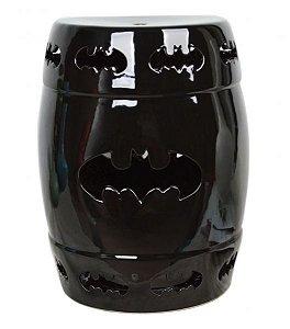 Banqueta Seat Garden Cerâmica Batman Preto