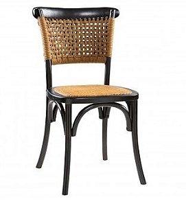 Cadeira Elis em Madeira Olmo Preta