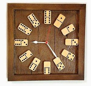 Relógio Decorativo Dominó