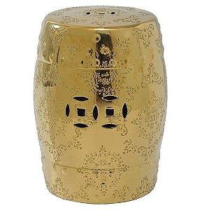 Banqueta Seat Garden Ceramica Sakai Dourado