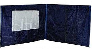 Jogo Paredes para Tenda Gazebo Oxford 2 Peças Azul 3m x 3m