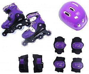 Kit Radical Roller Completo Roxo - G (38-41)