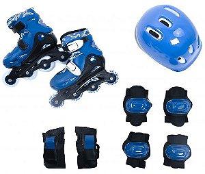 Kit Radical Roller Completo Azul - M (34-37)  - Bel Sport