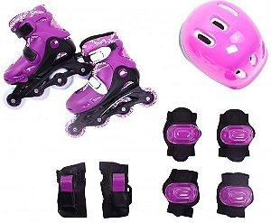 Kit Radical Roller Completo Rosa - G (38-41) - Bel Sport
