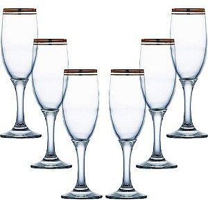 Jogo de Taças para Champagne Atlantica Misket 190ml