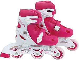 Patins Roller Infantil ROW Mor Rosa P (31-34)