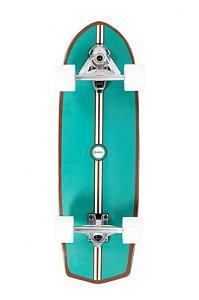 Skate Carver Swingboard Azul Turquesa Estampa Única