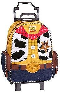 Mochila Escolar de Rodinha Toy Story Woody 3D  51686
