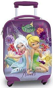 Mochila de Rodinhas Mochilete Escolar Disney Fadas TinkerBel Sininho (60195)