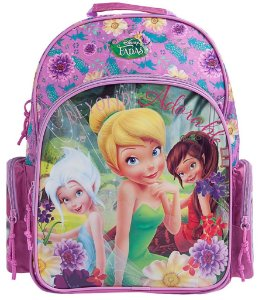 Mochila Escolar Alça para Costas Disney Fadas (60196)