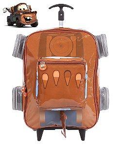 Mochila de Rodinhas Mochilete 3D Escolar Grande Disney Carros Matte (60106)