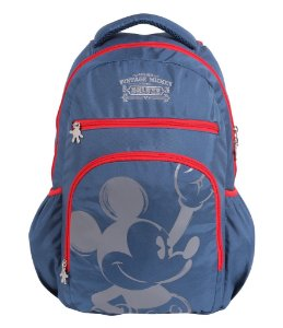 Mochila Escolar Juvenil Alça para Costas Mickey (60145)