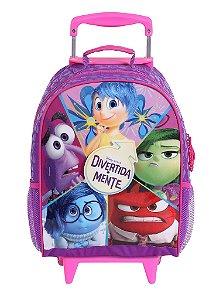 Mochila de Rodinhas Mochilete Escolar Disney Divertidamente (60168)