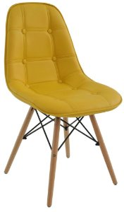 Cadeira Design Charles Eames Eiffel Botonê Amarelo