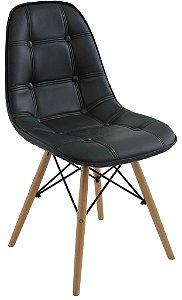 Cadeira Design Charles Eames Eiffel Botonê Preto